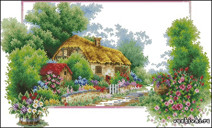 Вышивка бесплатные схемы весна