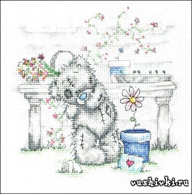 Мишки Тедди - Цветочный горшок