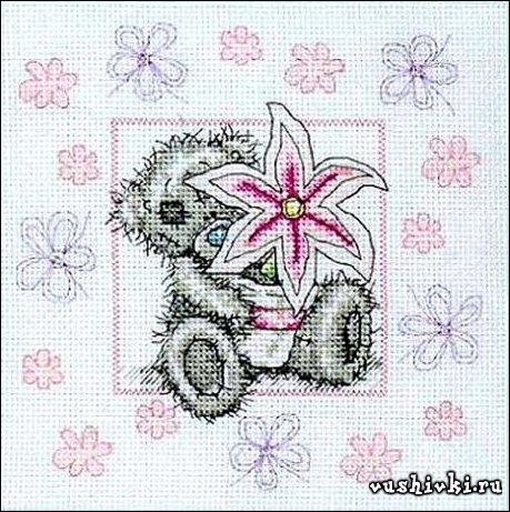 Мишки Тедди - Цветочек
