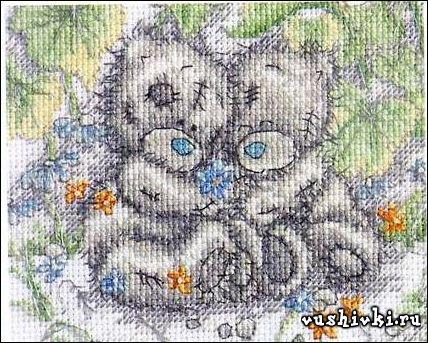 Мишки Тедди - В саду
