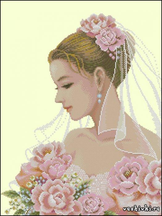 Невеста. Схема вышивки