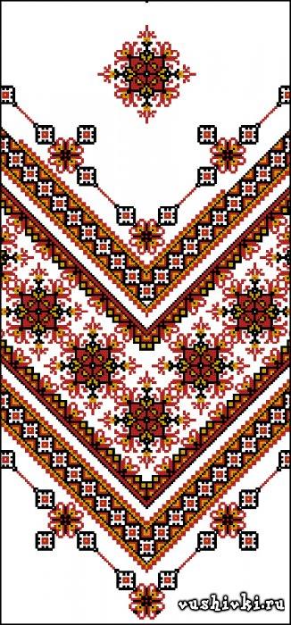 Рушник №10. Схема вышивки