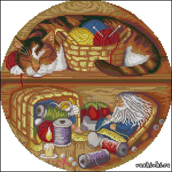 вышивка со львами гамма