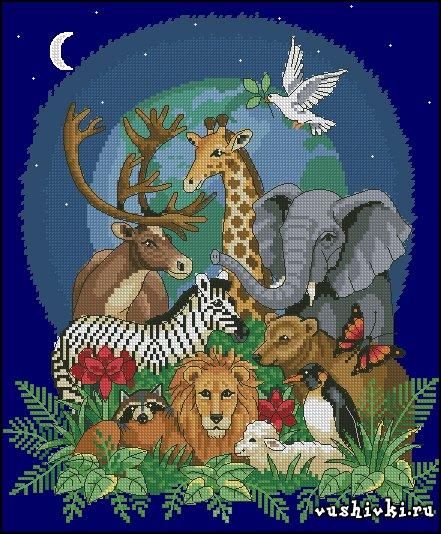 Бесплатные схемы вышивки крестом слона