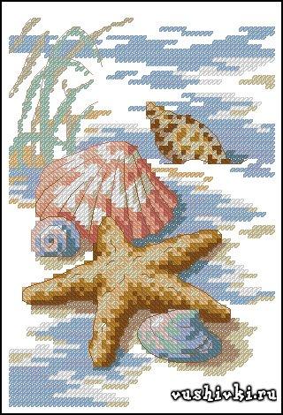 Морская тематика вышивки крестом схемы