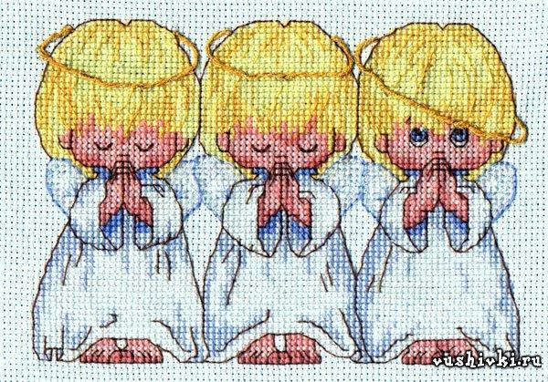 Схемы вышивки ангелочков почти идеальный