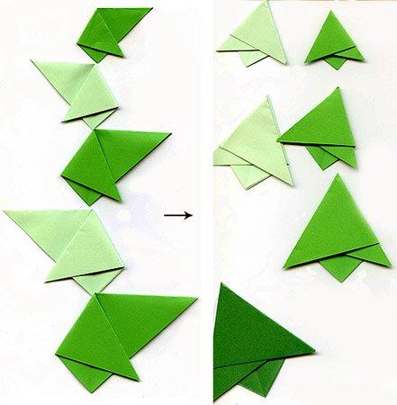 Как сделать елочку из оригами