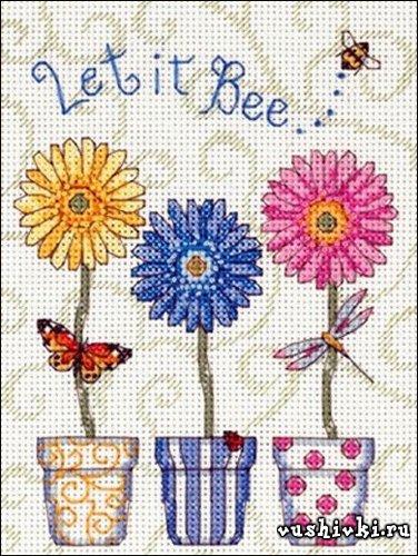 Пускай пчёлка... Схема вышивки
