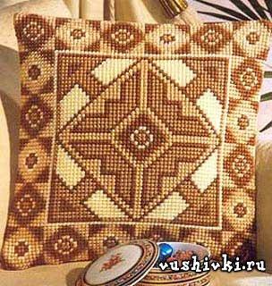 Вышивка на подушке крестом: схемы 100