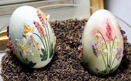 Вышивка на яйцах от Элизабет