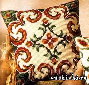 Вышивка подушка vervaco схема
