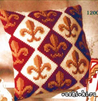 Вышивка крестом подушек узоры схемы