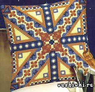 Вышивка на подушке крестом: схемы 15