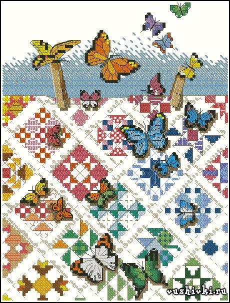Бабочки на скатерти