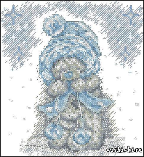 Мишки Тедди - В зимней шапке