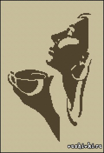 Скачать схему для вышивки чашка с кофе