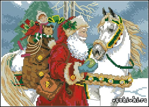 Дед Мороз с лошадью