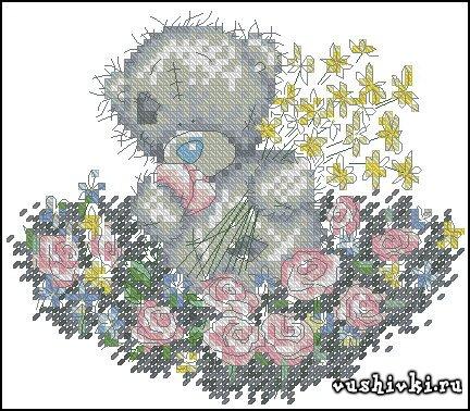 Мишки Тедди - Мишка в цветах