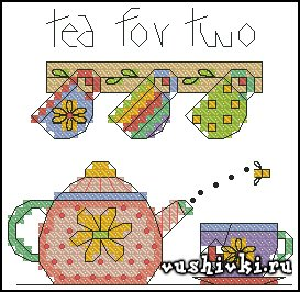 Чай для двоих (Dimensions 73043 - Tea for Two)