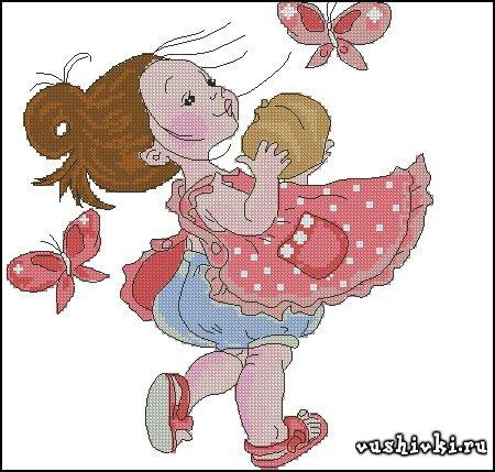 Девочка с бабочками