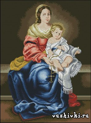 Мадонна с младенцем (Virgen con Nino - Cuadros)