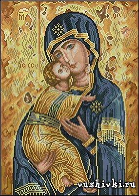 Владимирская икона Богородицы (Icono Theotokos Vladimir - Cuadros)
