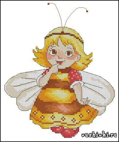 Схема для вышивки маленькая фея