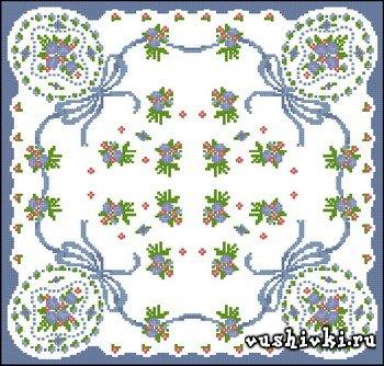 Подушка с маленькими цветочками