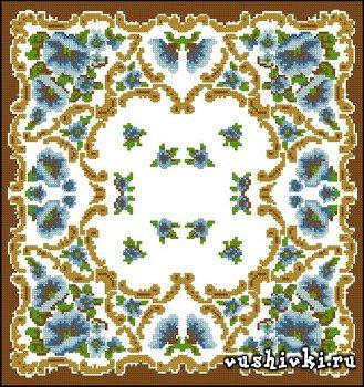 Рисунки вышивки крестом подушки