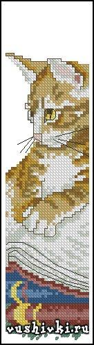 Закладки вышивка с котом