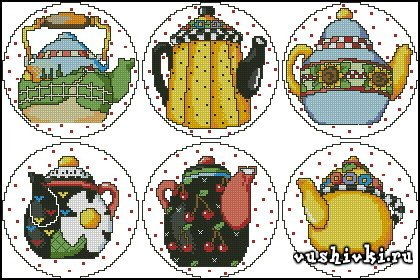 Teapot Collection 2 Coasters