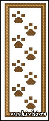 Схема лапа для вышивки