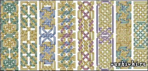 Схема вишивки закладок