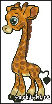 Схема вышивки жирафик