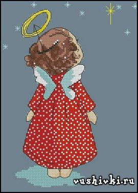 Рождественская звезда схема вышивки