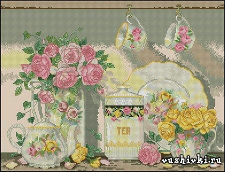 Чай и розы (Bucilla 43501)