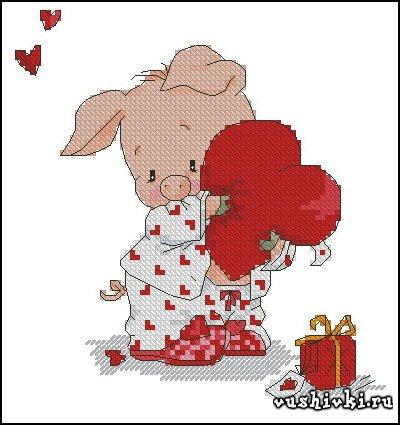 Вышивка любовь романтика