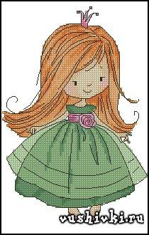 Схемы вышивки крестиком принцессы