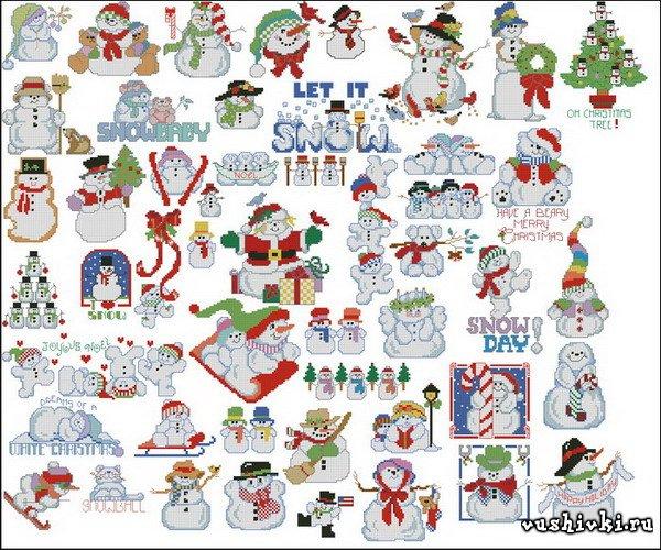 50 Снеговиков (Linda Gillum)