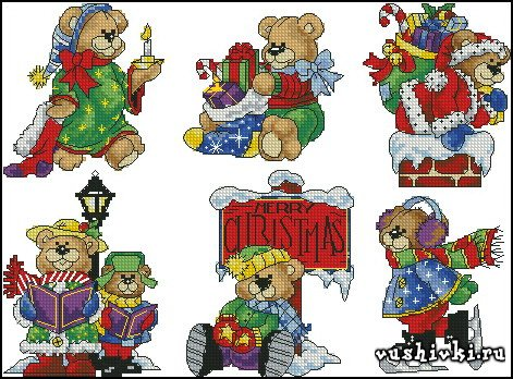 Christmas bears (Dimensions)