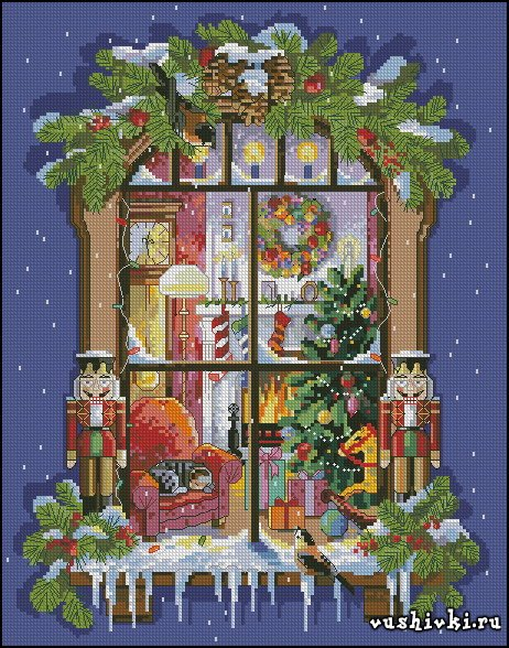 Christmas Window (Janlynn)