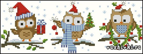 Christmas Littles Owls (Vervaco)