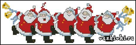 Cheery Santas