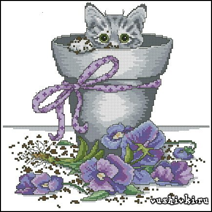Flower Pot Kitty (Design Works Crafts)