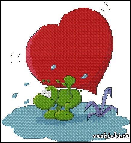 Big <em>вышивка</em> Heart Dino