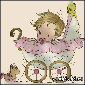 Девочка в коляске - метрика (Tinker Bell)