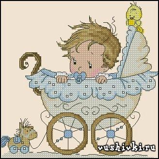 Мальчик в коляске - метрика (Tinker Bell)