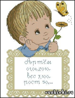 Мальчик - метрика (Tinker Bell)