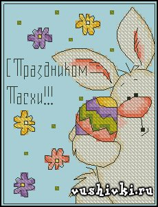Пасхальный зайчик 2 (Tinker <em>вышивка крестиком на праздники</em> Bell)