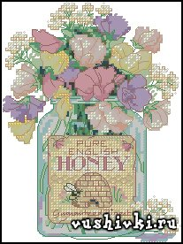 Honey Jar Floral (Dimensions)